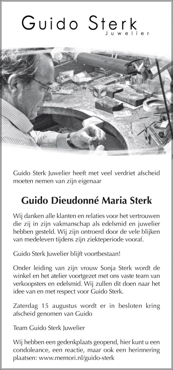 In Memoriam Guido Sterk